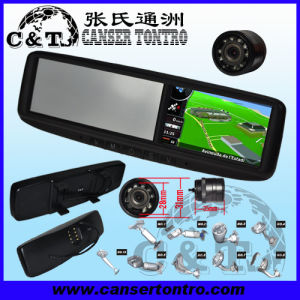 "4.3"" Car Rear View Mirror GPS LCD Monitor With Camera Kit (RVGSMDE)"