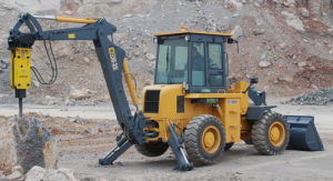 Backhoe Loader, Construction Machine, Engineering Equipment