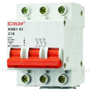 High Breaking Capacity Mini Circuit Breaker Knb1-63 pictures & photos
