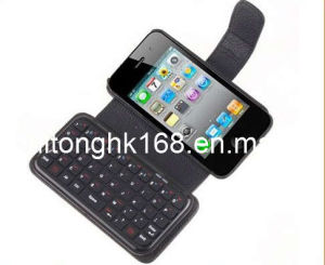 Leather Case Bluetooth Keyboard for iPhone