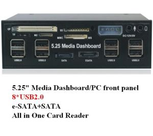 5.25 Inch USB2.0 Multi Front Panel Card Reader (SG-525A)