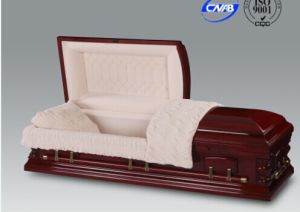 Luxes American Cherry Wood Casket for Funeral