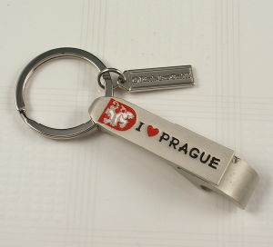 Promotional Souvenir Metal Bottle Opener Keychain