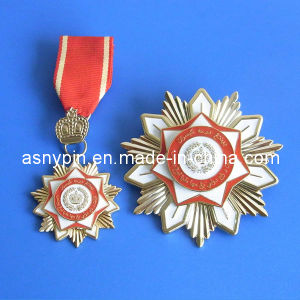 Military Uniform Brass Badge with Short Ribbon, Medallion pictures & photos