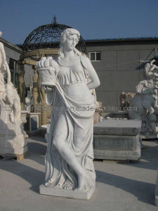 Roman Statue by White Marble Sculpture pictures & photos