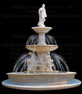 Marble Fountain with Sculpture (XF259) pictures & photos