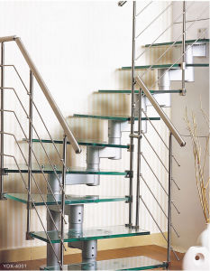 Curved Stainless Steel Staircase (YDX-4001) pictures & photos