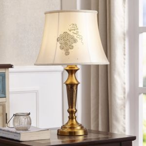 Metal Gold Hotel Bedside Standing Light Table Lamp
