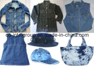 Denim Products: Skirts, Jumsuits, Jackets, Shirts, Bags, Caps