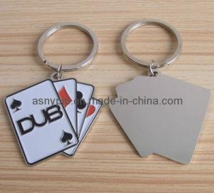 Unique Custom Design Soft Enamel Poker Brass Key Ring pictures & photos