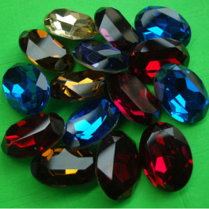 Siam Elliptic Shape Crystal Stone (3002) pictures & photos