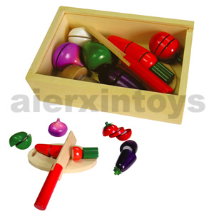 Wooden Cutting Vegetable Toy (80206) pictures & photos