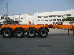 40feet Four Axles Container Chassis Semi Trailer pictures & photos