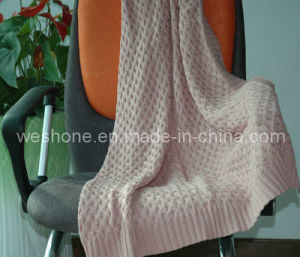 100% Cotton Knitted Blanket pictures & photos