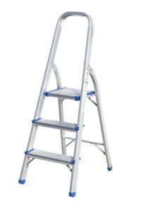 Household Aluminum Ladder (3 steps) pictures & photos