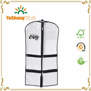 China Newest Dress Bag, Transparent Clear Plastic Wedding Dress Garment Bag pictures & photos