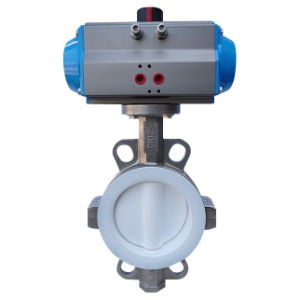 PTFE Lined Butterfly Valve with Pneumatic Actuator pictures & photos