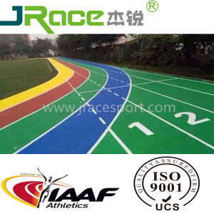 Synthetic PU Spray Coat Running Track with Iaaf Certificate pictures & photos