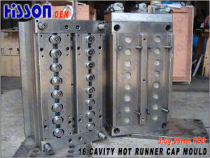 16 Cavity 3G PE Bottle Cap Molds Hot Runner pictures & photos