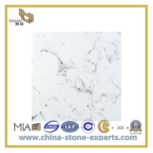 Natural Polished White Artificial Stone Quartz Slab for Flooring/Wall (YQC) pictures & photos