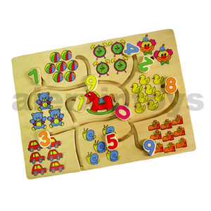 Wooden Tracing Puzzle with Numbers (80130) pictures & photos