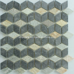 Honed Mix Stone Mosaic Tile for Outdoor Wall / Tile pictures & photos