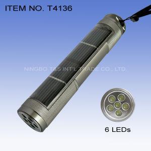 6 LEDs Solar Flashlight (T4136) pictures & photos