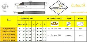 S16q-Svxcr/L11 for Steel Hardmetal Matching Standard Turning Tools Boring Bar pictures & photos