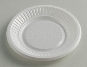 Easylife P041012 4′′ (10cm) Round Plate PS White pictures & photos