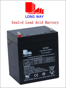 12V 5ah Rechargeable Solar Sealed Lead-Acid Battery (6FM5S) pictures & photos
