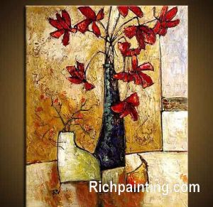HQ Abstract Flower Oil Painting (5)