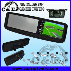 "4.3"" Car Rear View Mirror GPS LCD Monitor With Camera Kit (RVGSMDZ)"