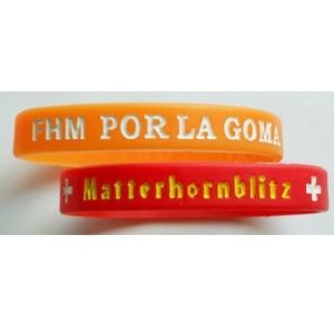 Elastomer Debossed Silicone Wristband for Promotion pictures & photos