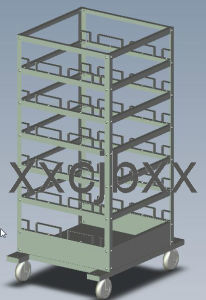 Steel Barrier or Stanchion Storage Trolley pictures & photos