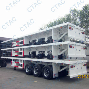 Flat Bed Transport Semi Trailer-3axles pictures & photos