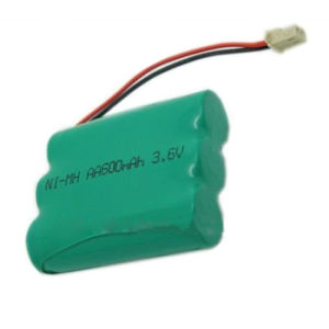 Ni-MH 3.6V 600mAh AA Rechargeable Batteries/Cells Packs Cordless Phone Battery pictures & photos