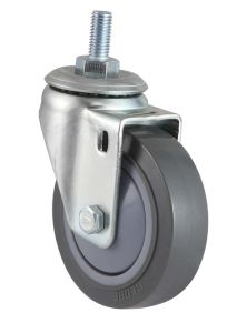 5 Inch Swivel PU Trolley Caster Wheel (Gray) (Flat Surface) pictures & photos