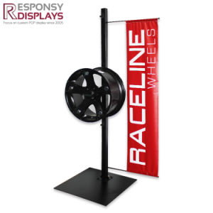 Metal Floor-Standing Tyre Display Brand Display for Three PCS with Big Logo pictures & photos