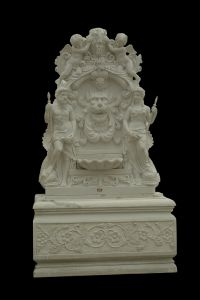 White Marble Warrior Wall Fountain pictures & photos