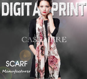 Women Printed Cashmere Lady Scarf (X1002) pictures & photos