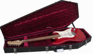 Coffin Shape St Guitar Hard Case (RCCF-15K)