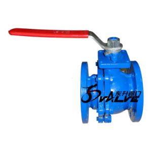Cast Iron Flange End Ball Valve with Handle Lever pictures & photos