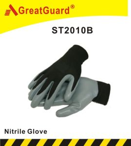 Regular Smooth Nitrile Coated Glove (ST2010B) pictures & photos