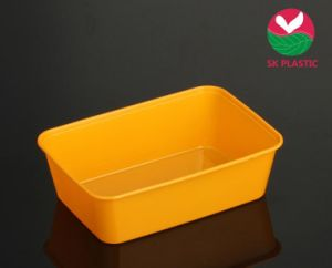 Takeaway Plastic Food Container (SK 750 Orange) pictures & photos