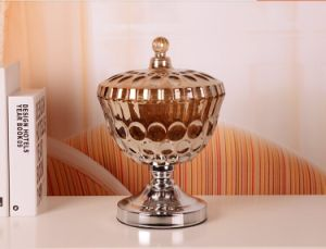 Gold Glass Candy Jar & Pot, Colorful Storage Pot, Stock Candy Pot