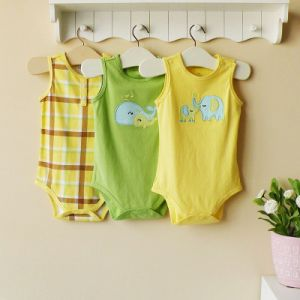 Hot Sell 2013 Summer Baby Bodysuit, 100%Cotton Baby Romper