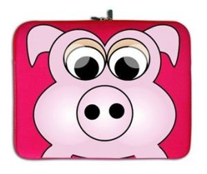 Neoprene Laptop Bag with Cute Pig for Kids pictures & photos