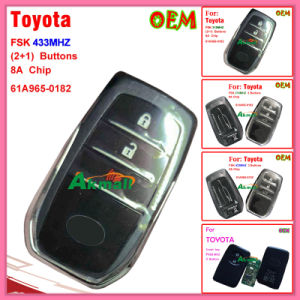 Original Smart Remote Key for Toyota 2 Buttons F433MHz pictures & photos