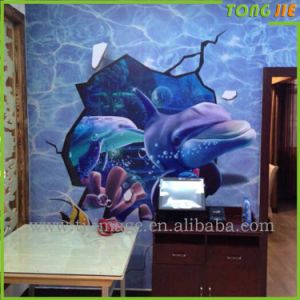 Batch Printing Import 3D Wall Customized Vinyl Sticker pictures & photos
