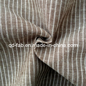 Cotton/Linen Yarn Dyed Stripe Shirting Fabric (QF13-0764) pictures & photos